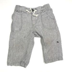 H&M Gray Linen Rollup Pants A150393